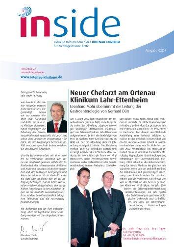 Neuer Chefarzt am Ortenau Klinikum Lahr-Ettenheim