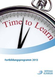Fortbildungsprogramm 2013 - Ortenau Klinikum