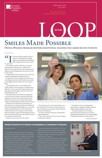 Smiles Made Possible - GPC Home - Georgia Perimeter College