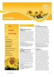 Sommer - Volkshochschule Heidelberg