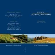 Preisliste Wein Schloss Ortenberg - Pfaffenkeller