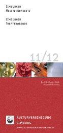 Programmheft 11-12.indd - Kulturvereinigung Limburg e.V.
