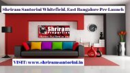 SHRIRAM SANTORINI 1, 2 & 3 BHK FLOOR PLAN