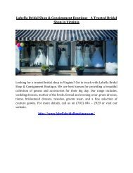 Labella Bridal Shop and Consignment Boutique - A Trusted Bridal Shop in Virginia