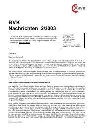 BVK Nachrichten 2/2003 - ww.bvk-mitglieder.d