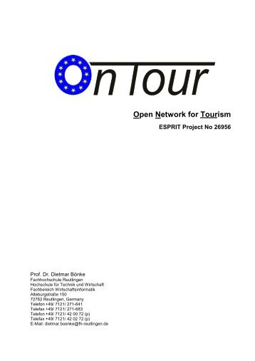 Open Network for Tourism - Biba - Universität Bremen