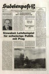 deutschen Heimat - Sudetenpost