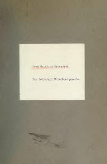 Das Leipziger Kürschnergewerbe