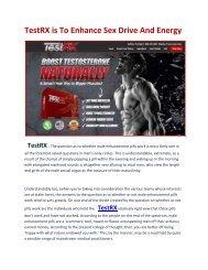 TestRX will Achieve Maximum Sexual Pleasure & Natural Testosterone