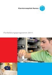 Fortbildungsprogramm 201 1 - Kantonsspital Aarau