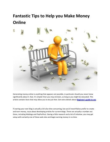 6 How to make money online