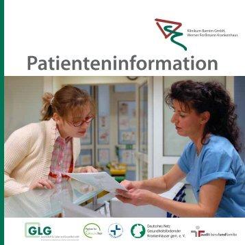 Patienteninformation - GLG Gesellschaft für Leben und Gesundheit ...