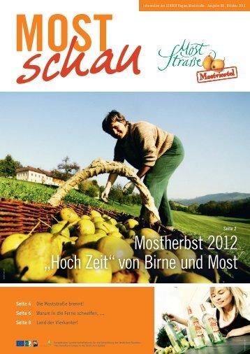 """Mostherbst 2012 """"Hoch Zeit"""" von Birne und Most - Moststraße"""