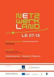 Einladung Konferenz und Innovative Werkstatt ... - Netzwerk Land