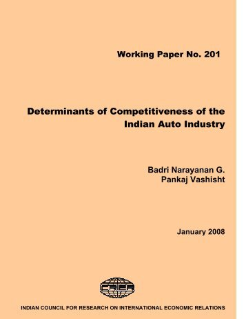 indian automobile industry 2 essay Automobiles sector analysis report the indian automobile market can be divided into auto industry has witnessed multiple tailwinds in last two to three.