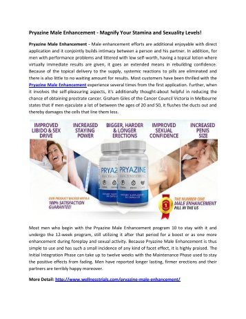 Pryazine Male Enhancement - Boost Your Performance Naturally!