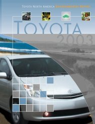 Annual Report chip - Toyota