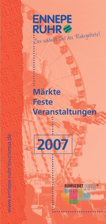 Märkte, Feste, Veranstaltungen - Ausgabe 2007 - Ennepe-Ruhr-Kreis