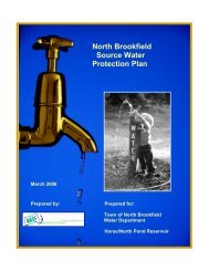 North Brookfield Source Water Protection Plan