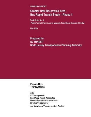 Greater New Brunswick Area Bus Rapid Transit Study - North Jersey ...