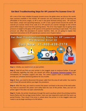Troubleshooting Steps for HP LaserJet Pro Scanner Error 22