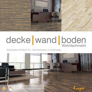 dwb Produktinformation Corpet PrintKork Naturboden Sortiment