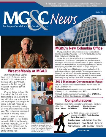 MG&C's New Columbia Offfce - McAngus Goudelock & Courie, LLC