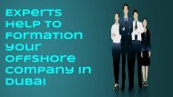 Offshore Company Formation Services in Dubai through an Expert