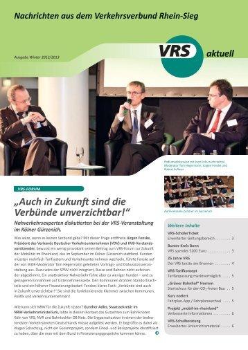 Ausgabe 1 Winter 2012 / 2013 - VRS