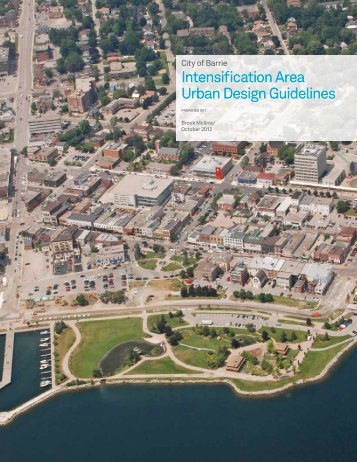 Intensification Area Urban Design Guidelines - City of Barrie