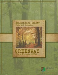 Greenway Master Plan 2008 - 2018 - Charlotte-Mecklenburg County