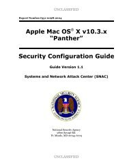 "Apple Mac OS X v10.3.x ""Panther"" Security Configuration Guide"