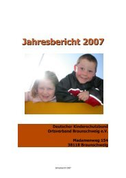 Jahresbericht 2007 - Kinderschutzbund in Braunschweig