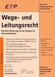 Wege- und Leitungsrecht - Wolter Hoppenberg