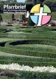 Pfarrbrief - Katholische Kirchengemeinde Heilig Kreuz