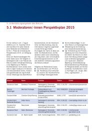 in Perspektivplan 2015 Generalvikariat - Bistum Osnabrück
