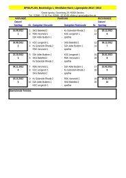 SPIELPLAN, Bezirksliga 1, Westfalen-Nord, Ligenspiele 2012 / 2013