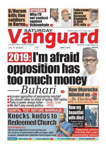 02062018 - 2019 I'm afraid opposition has too much money