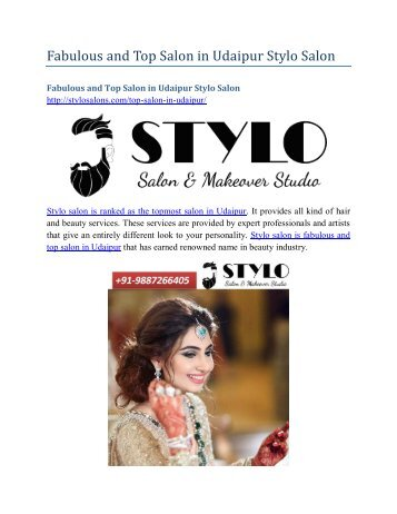 Fabulous and Top Salon in Udaipur Stylo Salon