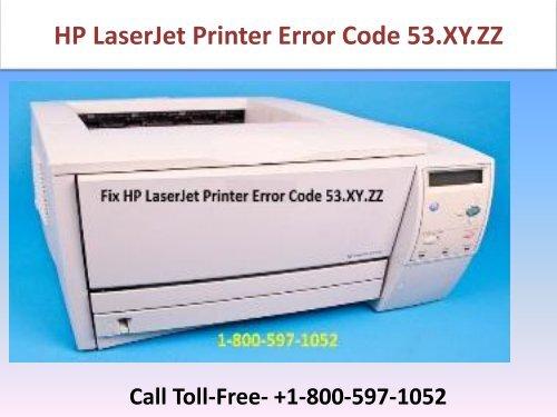 fix hp laserjet printer error code 53 xy zz