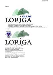 Extratos da obra do historiador António Conde, História concisa da vila de Loriga - Das origens á extinção do município