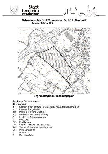 "Bebauungsplan Nr. 120 ""Antruper Esch"" - Stadt Lengerich"