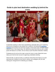 Best destination wedding in India by behind the scene