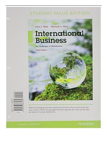 International Business Pearson Pdf