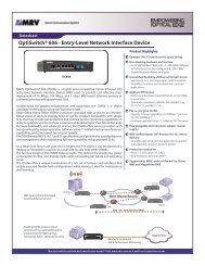OptiSwitch® 606 - Entry-Level Network Interface Device - MRV ...
