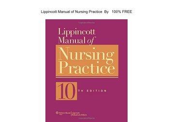 E-book Lippincott Manual of Nursing Practice by Sandra M. Nettina MSN ANP-BC