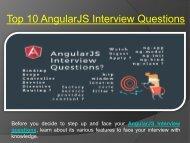 Top AngularJS Interview Questions 2018
