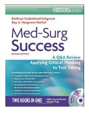 eBook Med-Surg Success A Q A Review Applying Critical Thinking to Test Taking Davis's Success Free online