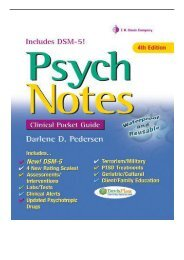 eBook PsychNotes Clinical Pocket Guide Davis's Notes Free online