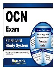 eBook Ocn Exam Flashcard Study System Ocn Test Practice Questions and Review for the Oncc Oncology Certified